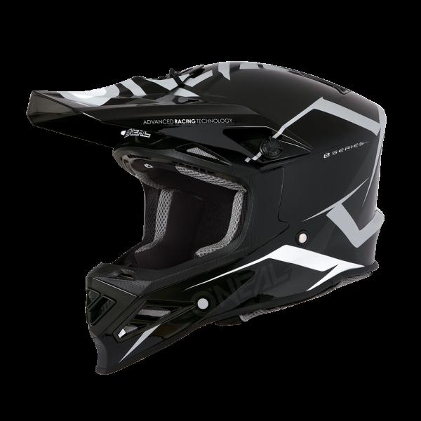 A**8SRS Helmet BLIZZARD (black(gray)