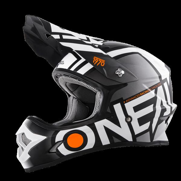 A**3SRS Helmet RADIUM (black/white)