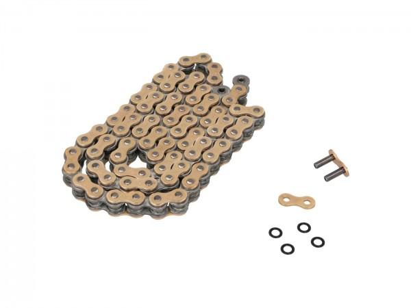Triple-E X-Ring Kette 520-X2 mit Nietschloss (gold)